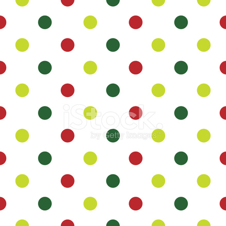 Cute Nail Arts Wallpaper Christmas Polka Dot Background In Red Green And White