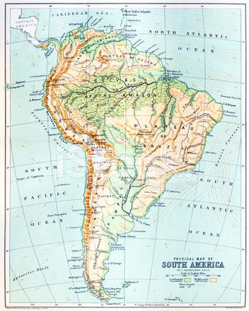 Antieke Kaart Van Zuid Amerika Stock Vector - FreeImages - amerika haritasi