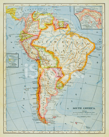 1883 Zuid Amerika Kaart Stockfoto\u0027s - FreeImages - amerika haritasi