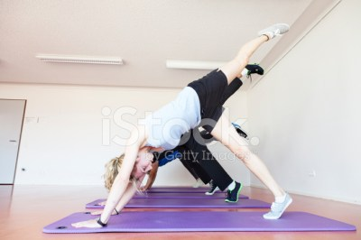 Young Adults Yoga Class Healthy Lifestyle Stock Photos ...