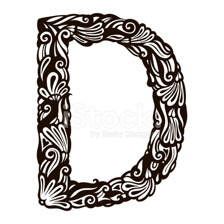 Animation Movie Wallpaper Floral Letter D Stock Vector Freeimages Com