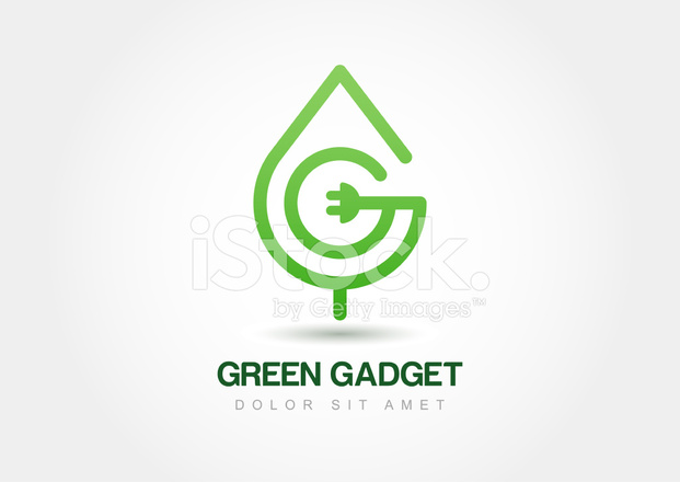 Green Leaf With Wire, Abstract Vector Logo Stock Vector - FreeImages