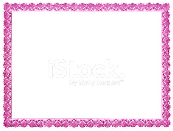 Modelo DE Certificado (rosa) Fotos do acervo - FreeImages