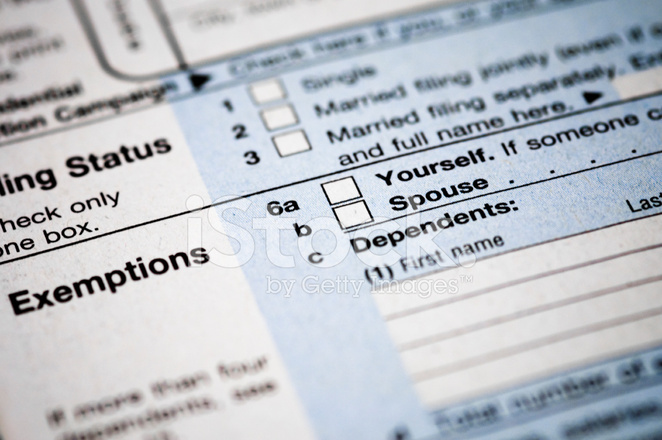 Income Tax Exemptions Stock Photos