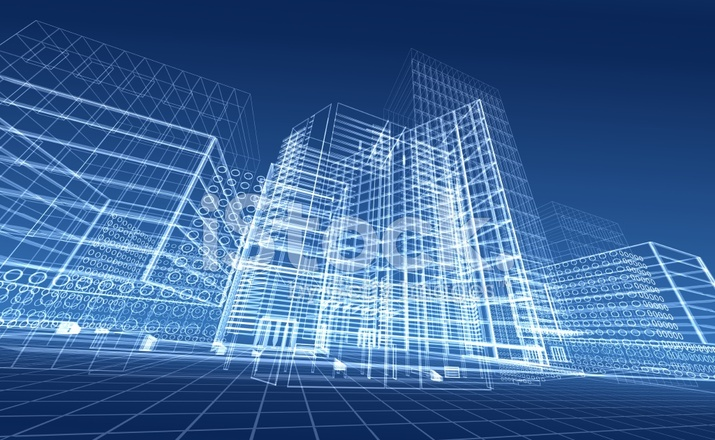 Army 3d Wallpaper Architectural Blueprint Of Contemporary Buildings Stock