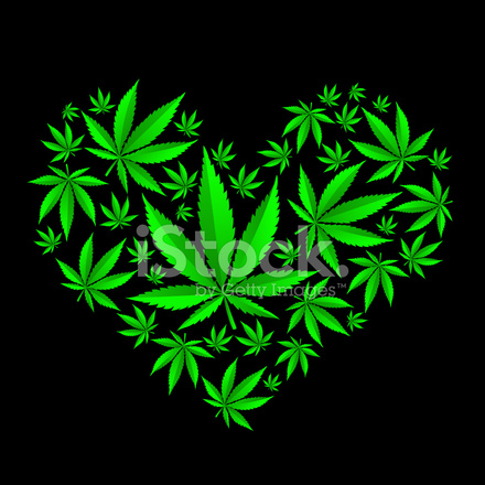 3d Halloween Live Wallpaper Cannabis Heart Stock Vector Freeimages Com