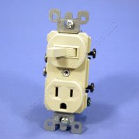 Leviton Ivory Wall Toggle Light Switch & Outlet Receptacle ...
