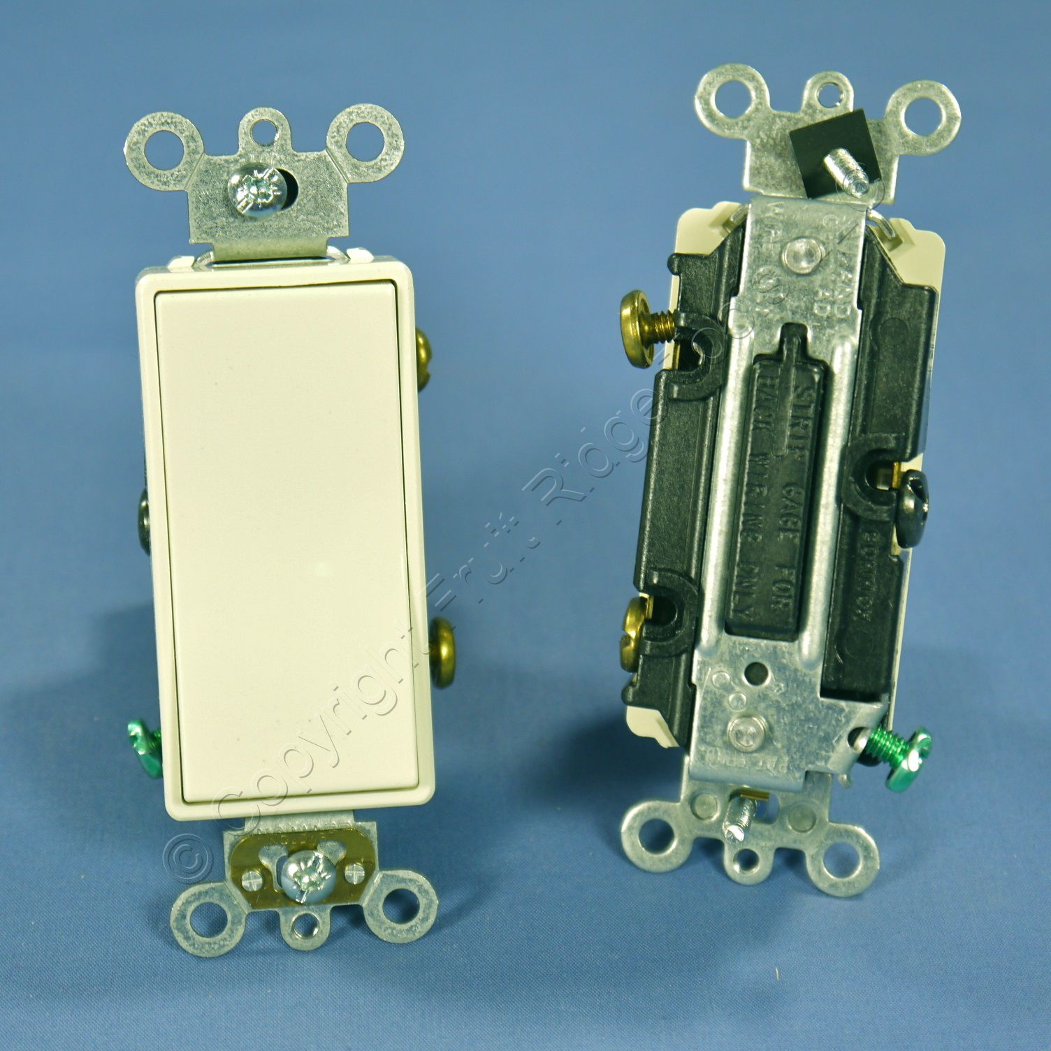 10 Leviton Decora Almond Rocker Wall Light Switches 15a Auto Triple Switch Triplex Commercial 3