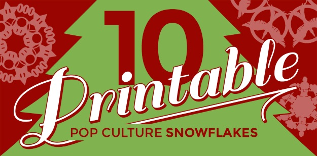 10 Pop Culture Snowflakes Printables - Fun Blog