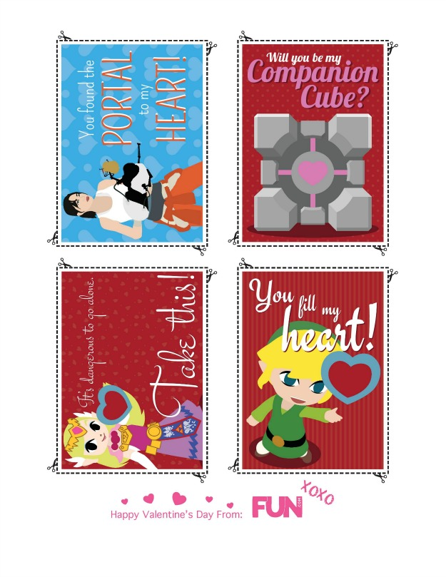 Video Game Heart Containers 19 Printable Valentines for Valentine\u0027s