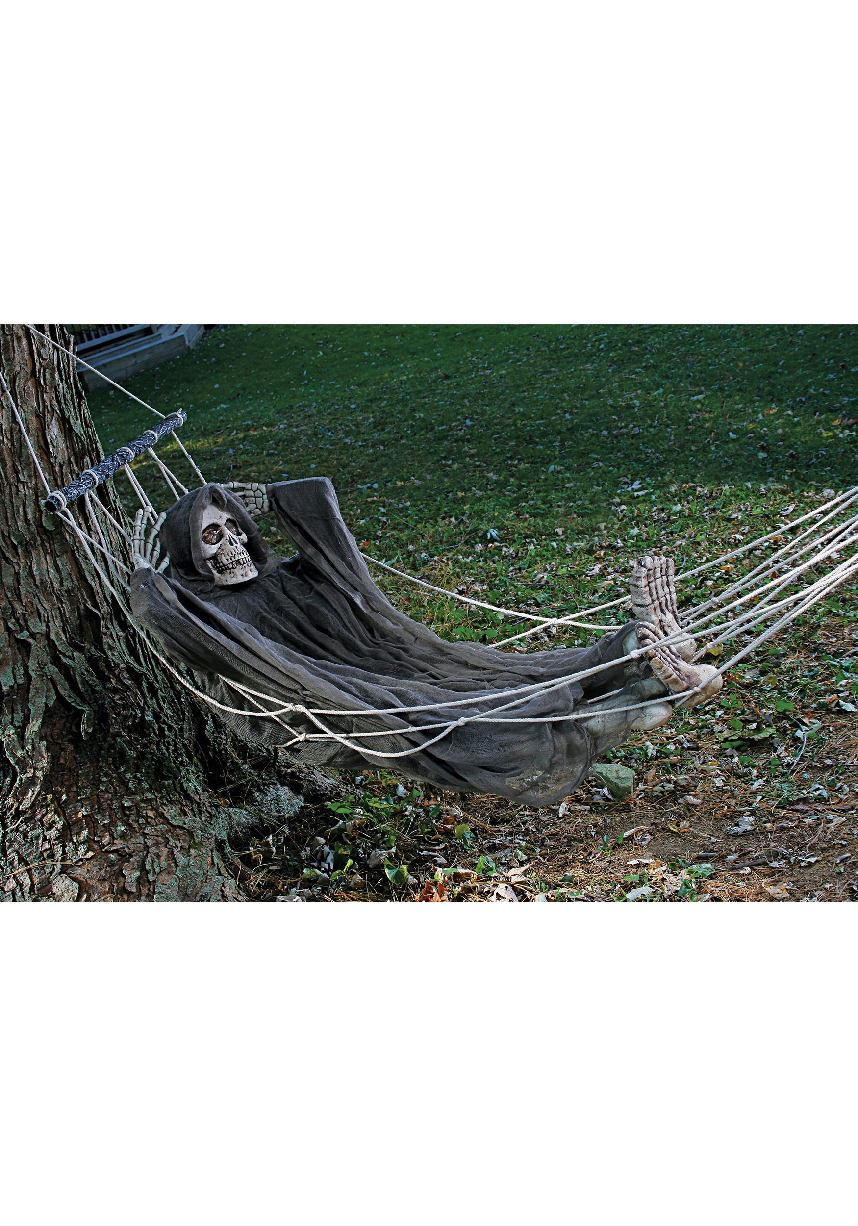 Skeleton Lazy Bones In Hammock 5 Halloween Scary Skull Party Decoration Prop Sointechile Cl
