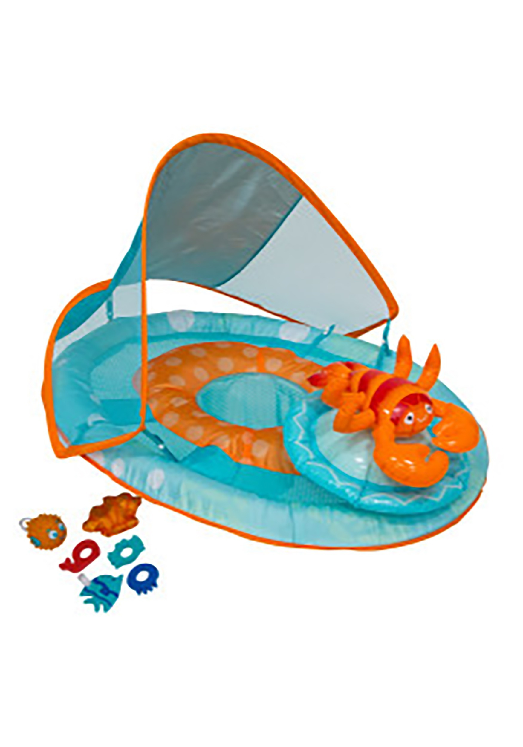 Baby Activity Center Lobster Baby Spring Float With Canopy
