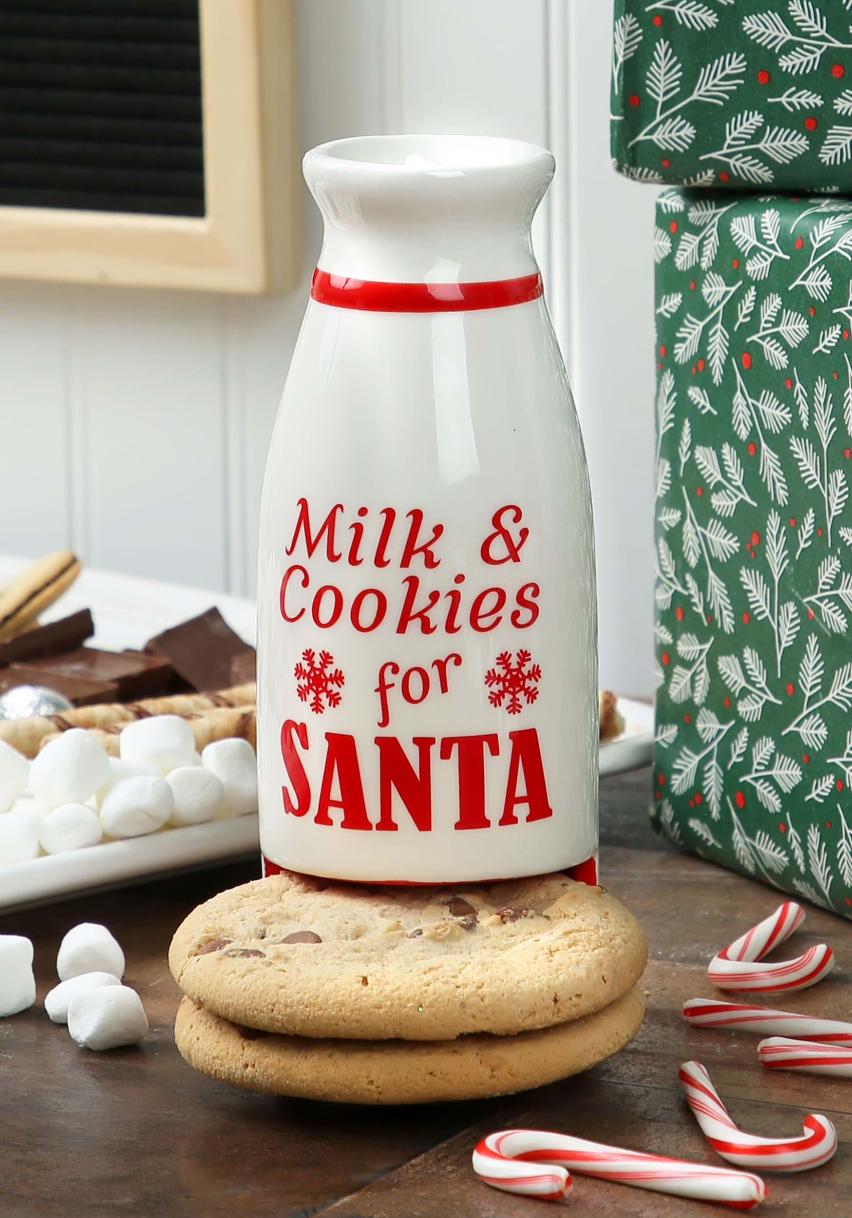 Milk Bottles For Decoration Milk Bottle Santa S Milk Cookies