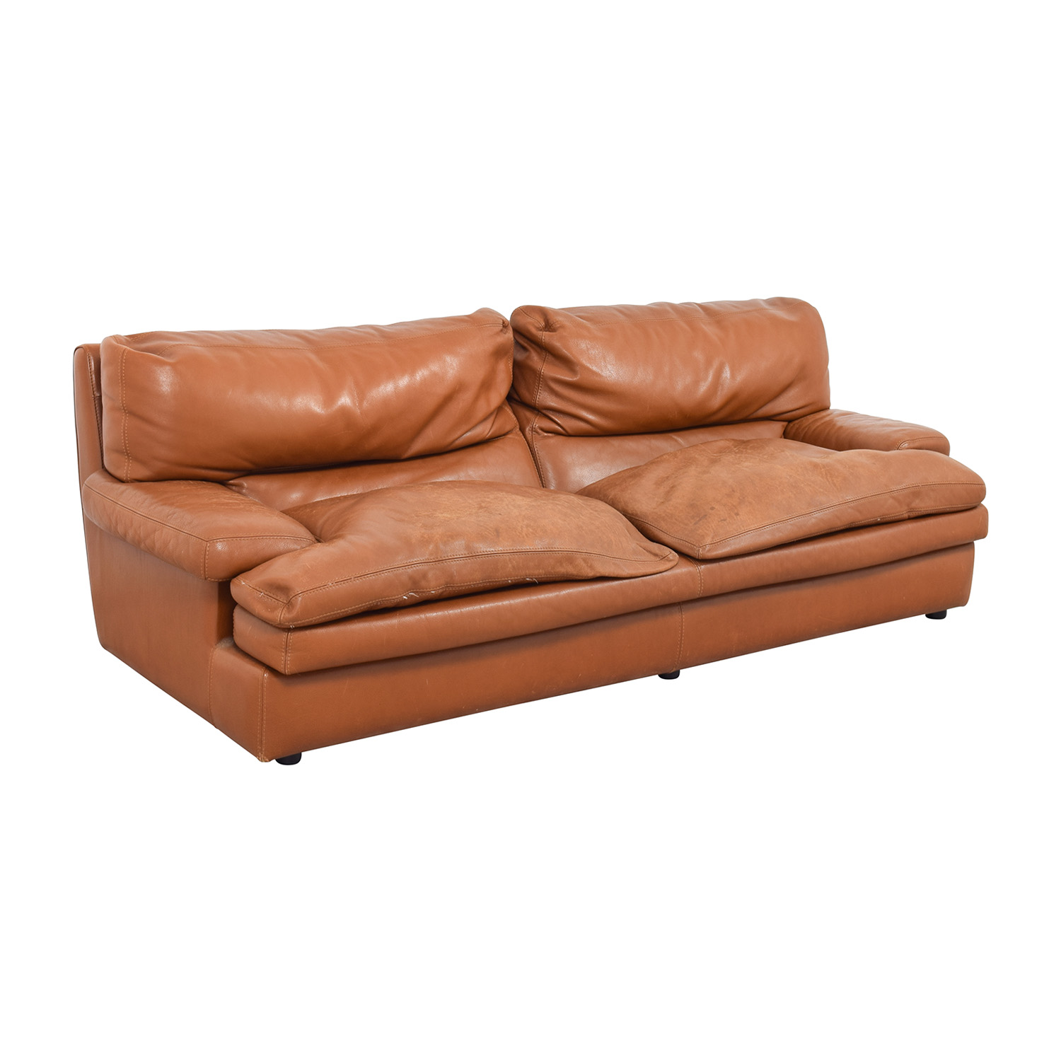 Solde Roche Bobois 81% Off - Roche Bobois Roche Bobois Burnt Orange Leather
