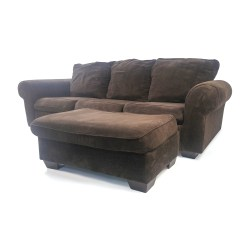 Small Of Plush Chair And Ottoman