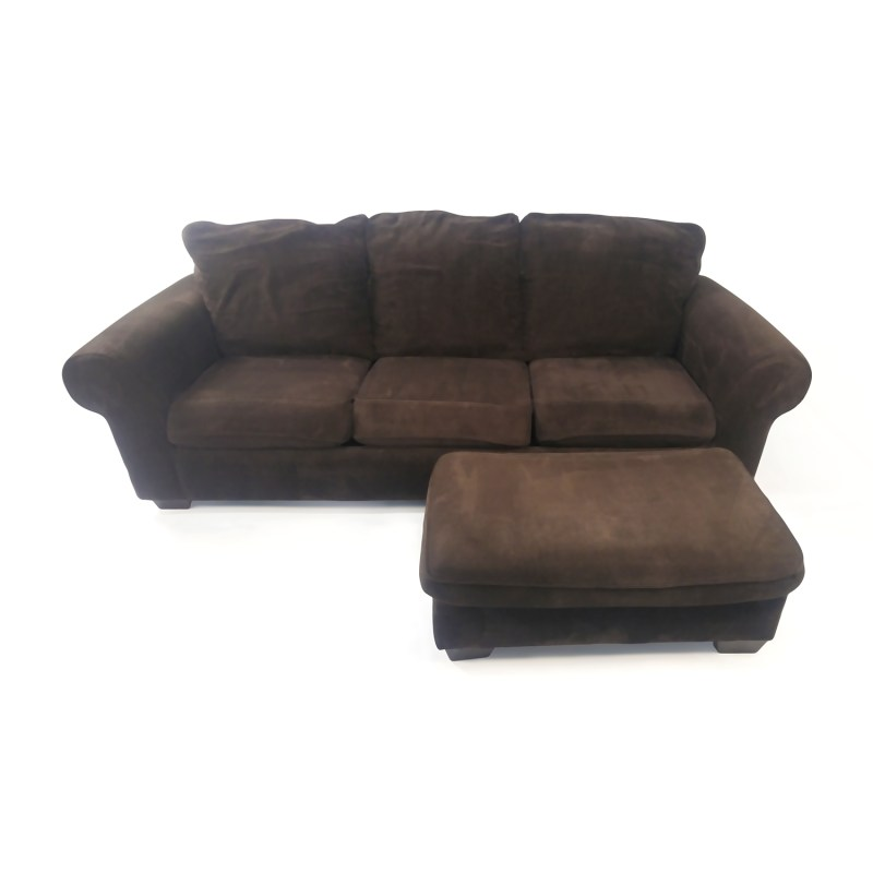 Large Of Plush Chair And Ottoman