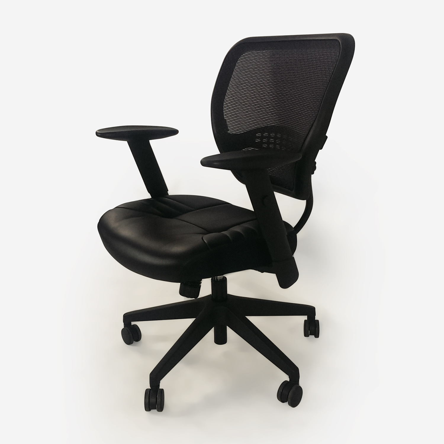 Furniture Chairs Black 67 Off Black Leather Office Chair Chairs