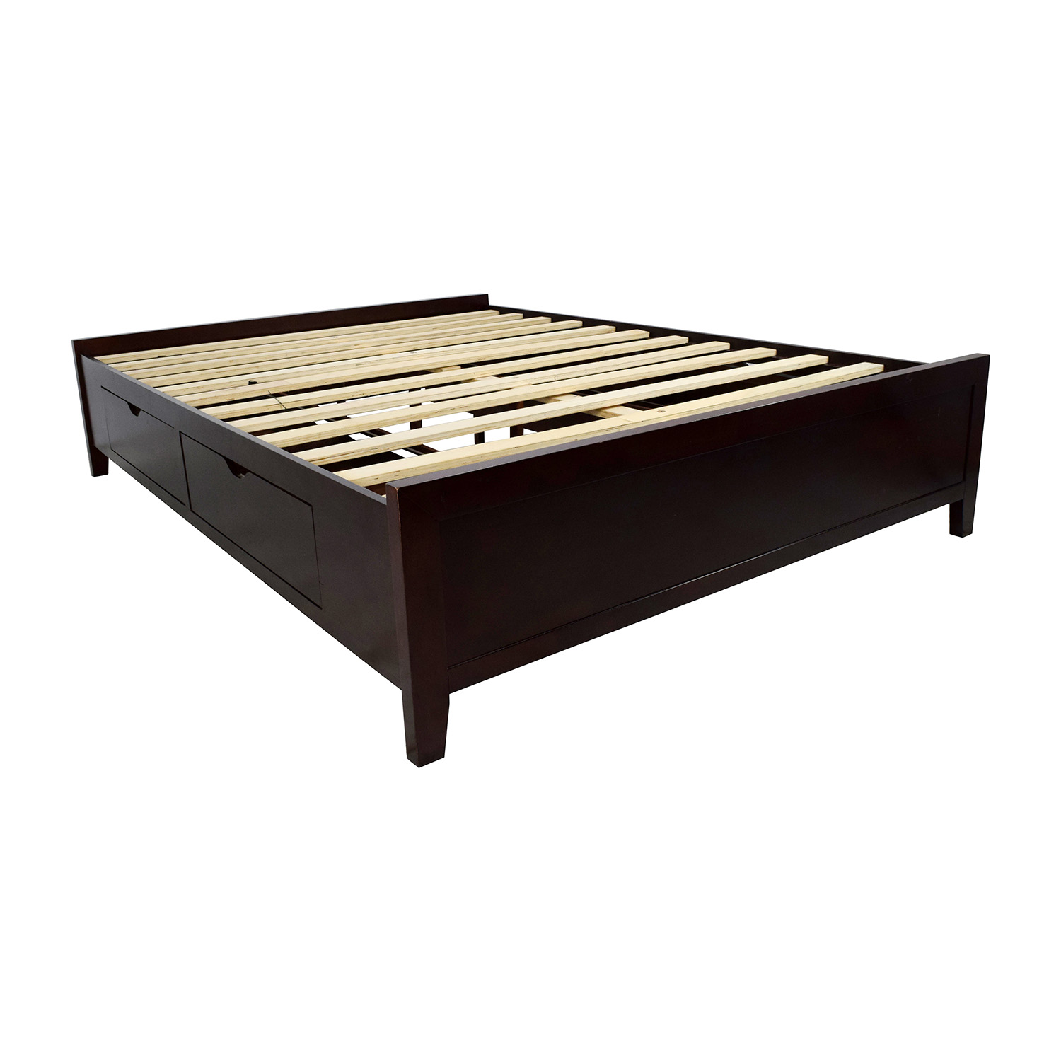 Storage Bed Frame Queen 67 Off Wooden Queen Size Storage Bed Frame Beds