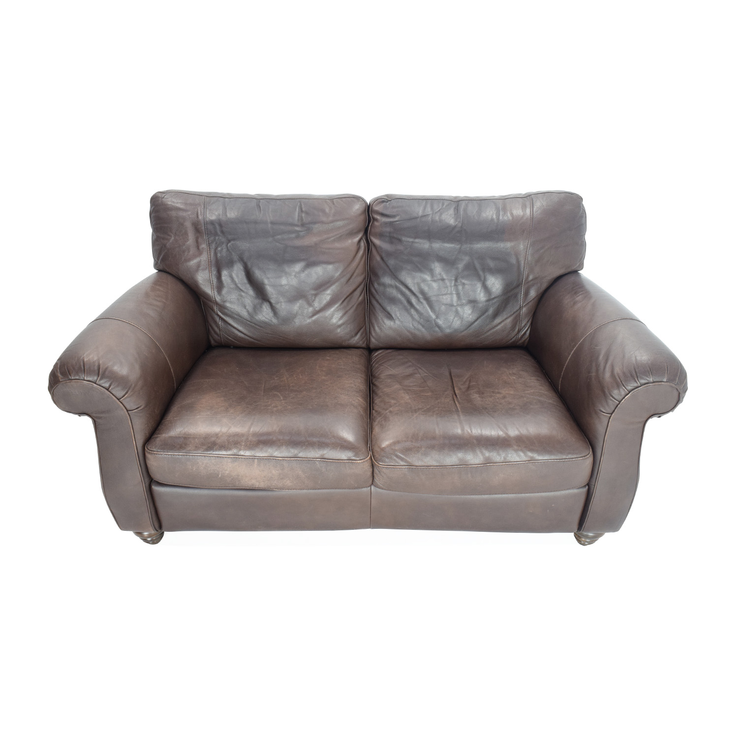 Leather Loveseat 60 Off Unknown Brand Grey Loveseat Sofas