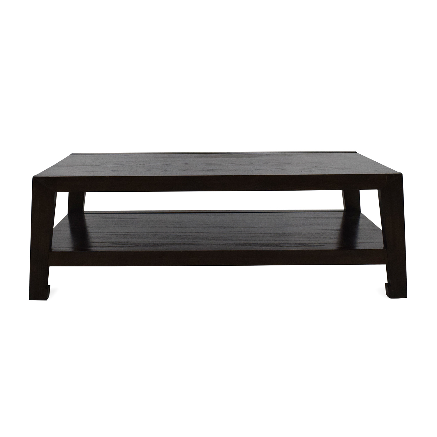 Dark Wood And White Coffee Table 34 Off West Elm Storage Table West Elm White Lacquer