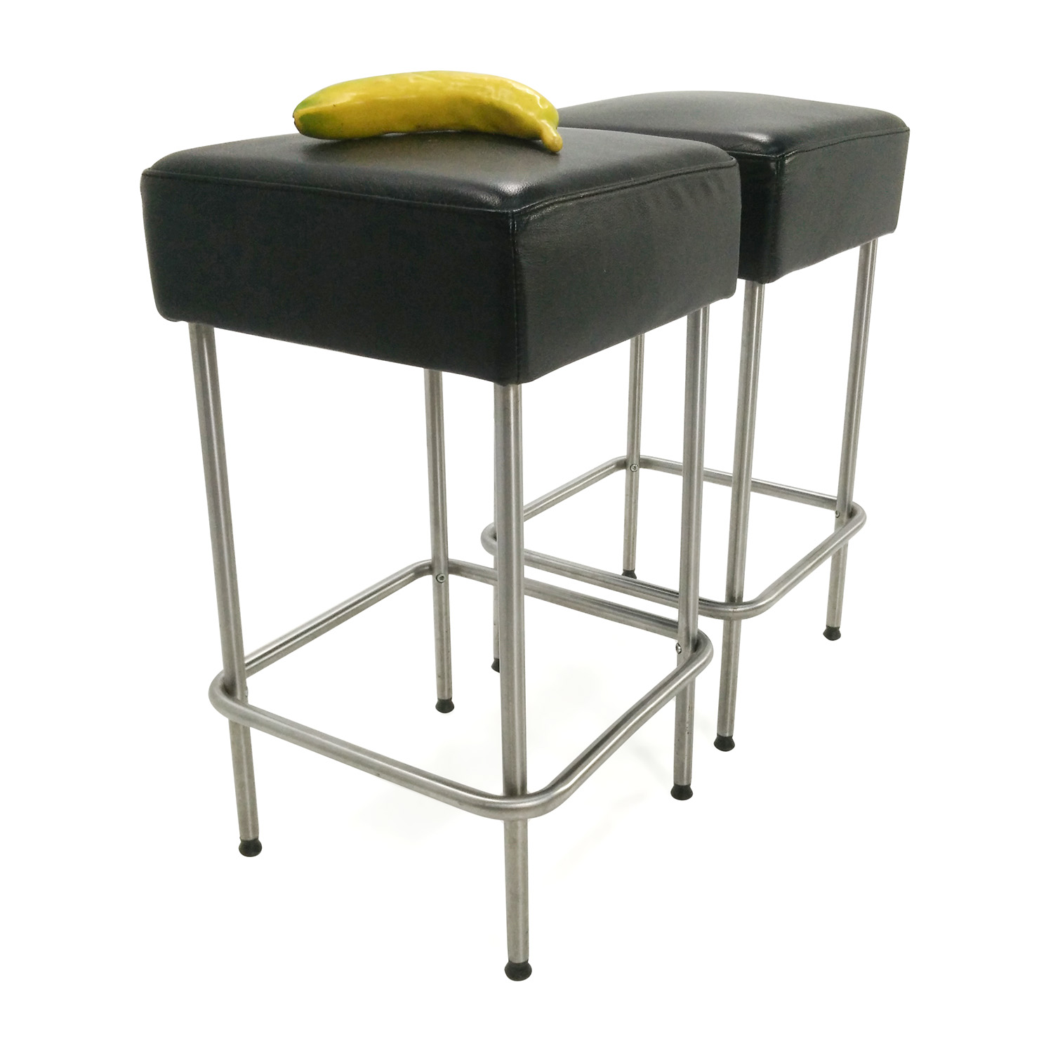 Cheap Black Barstools 71 Off Ikea Ikea Black Faux Leather Bar Stools Chairs