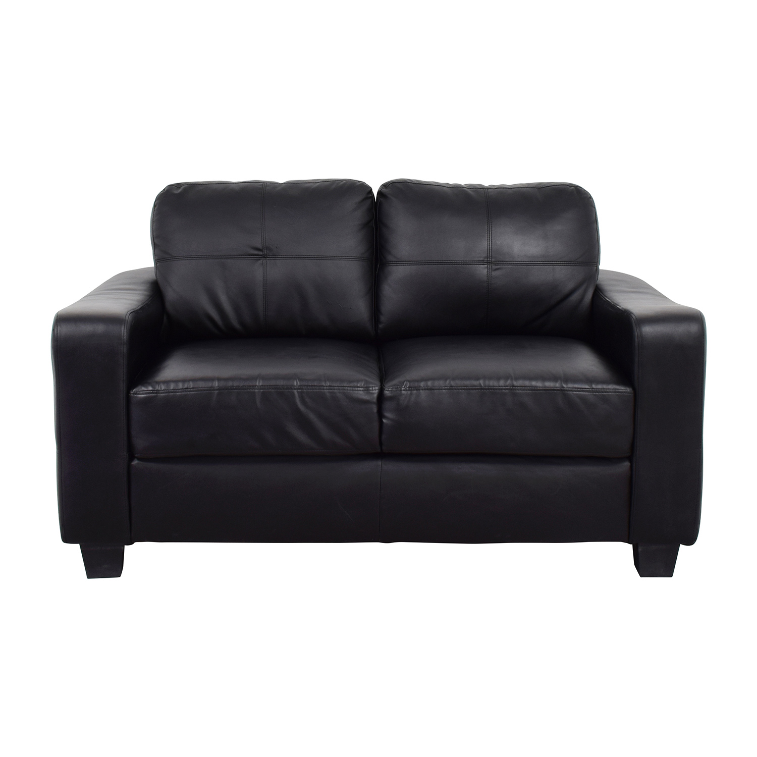 Leather Loveseat 79 Off Black Bonded Leather Loveseat Sofas