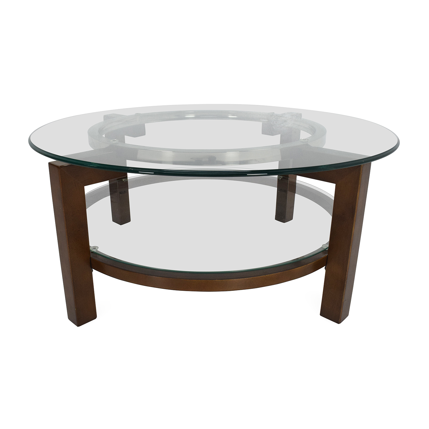 Glass Coffe Table 80 Off Cb2 Cb2 Glass Top Coffee Table Tables