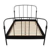 62% OFF - IKEA IKEA SVELVIK Full Size Black Bed Frame / Beds