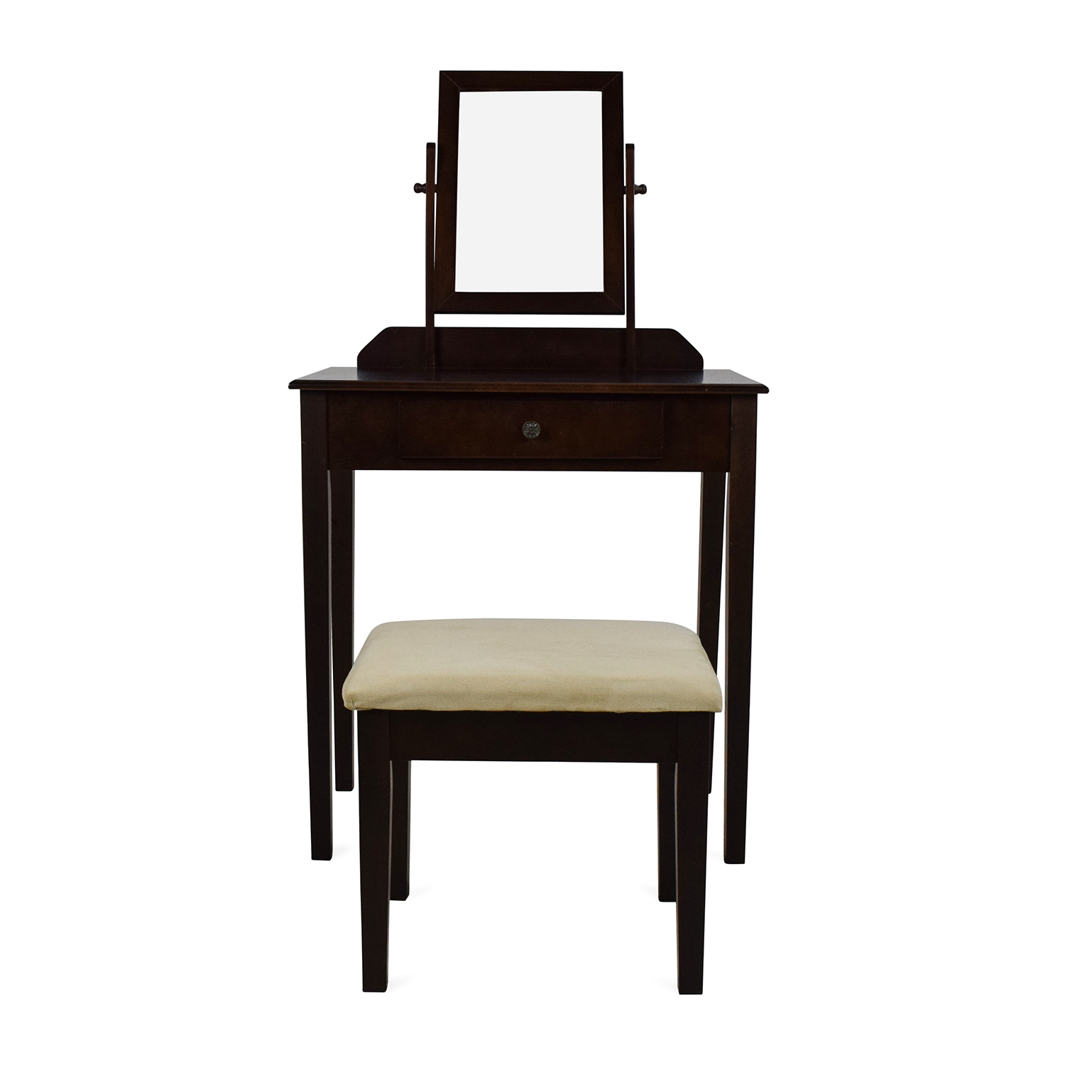 Wooden Vanity Chair 83 Off Wooden Vanity With Stool Tables