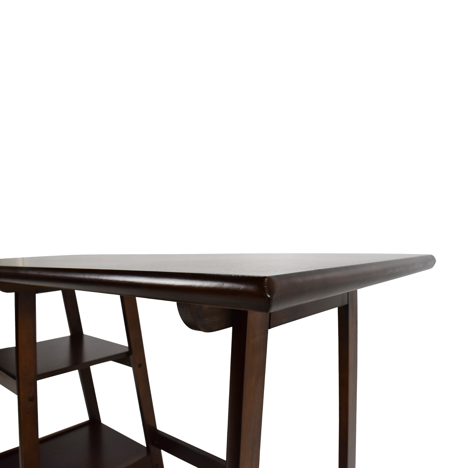 Schreibtisch Dunkelbraun 81 Off Dark Brown Wood Home Office Desk Tables