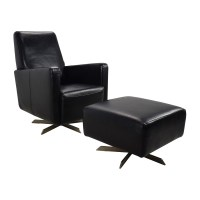 Natuzzi Leather Chair And Ottoman - Frasesdeconquista.com