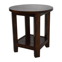 62% OFF - Pottery Barn Pottery Barn Wooden Side Table / Tables