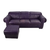 Eggplant Leather Sofa Living Room Purple Leather Sofa ...