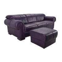 85% OFF - Himolla Himolla Purple Leather Sofa with Ottoman ...