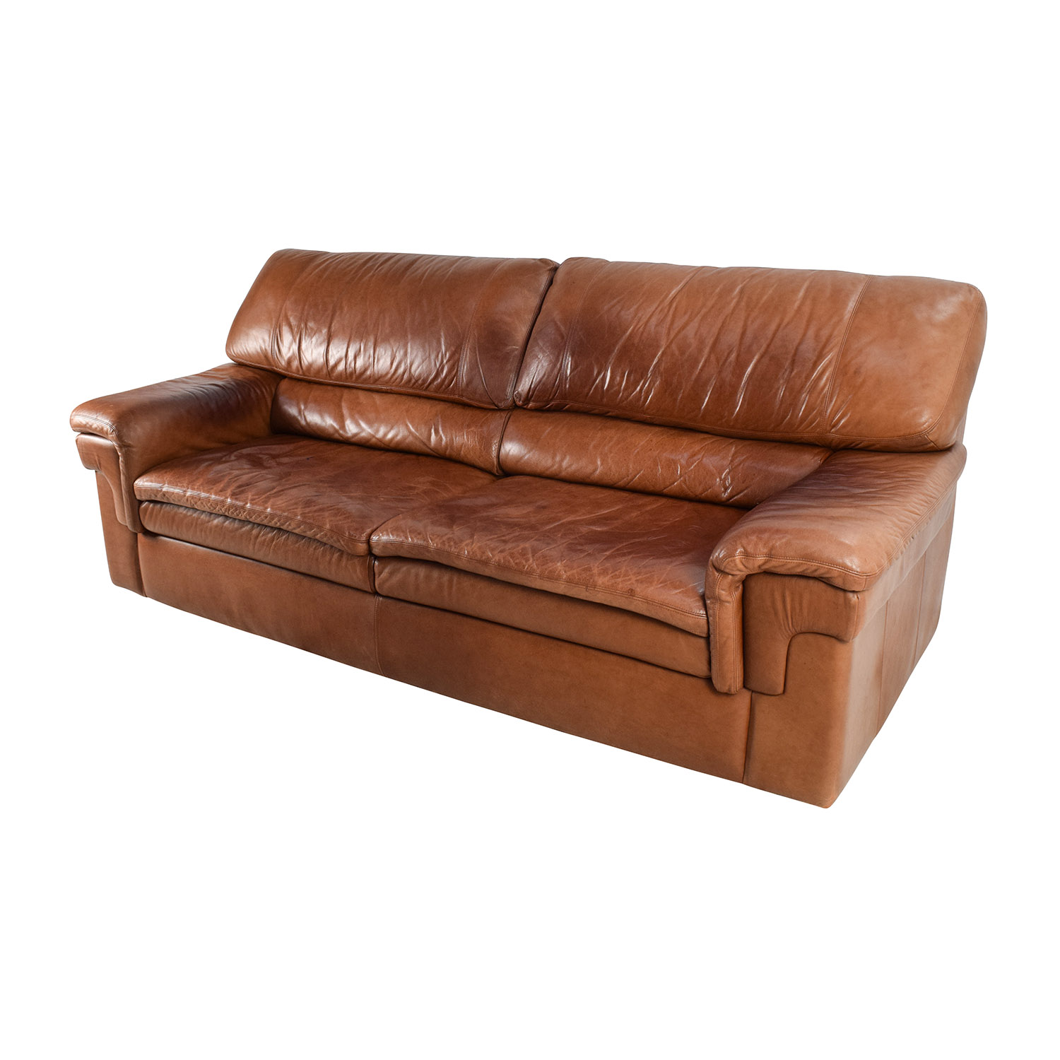Sofas Leder 71% Off - Classic Cherry Brown Leather Sofa / Sofas