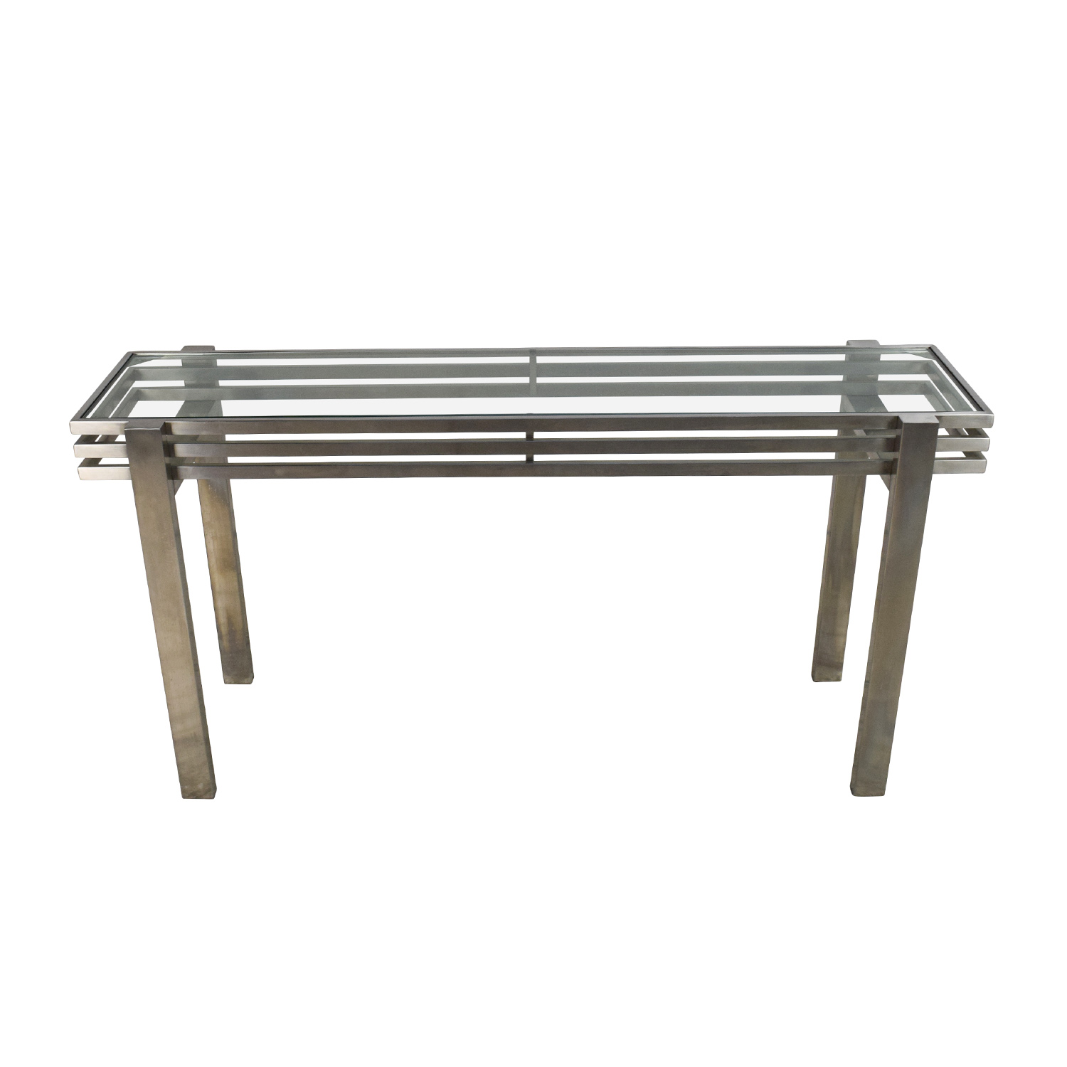 Buy Side Table 63 Off Metal And Glass Side Table Tables