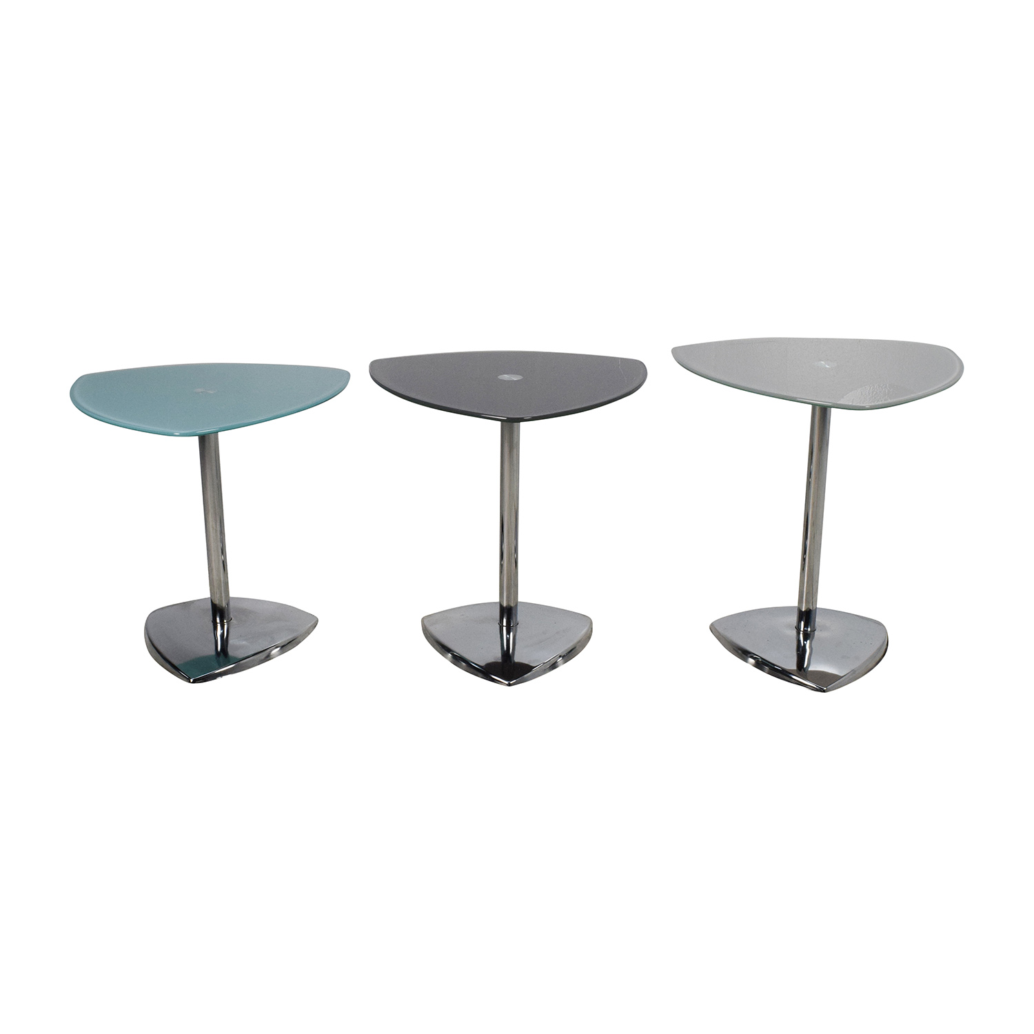 Glass End Tables Set 80 Off Glass Top Bamboo Coffee Table Tables