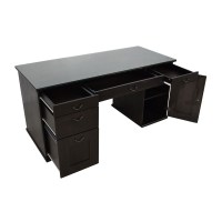 65% OFF - IKEA IKEA Glass Top Office Desk / Tables