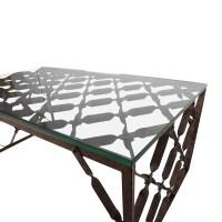 82% OFF - Crate and Barrel Crate & Barrel Glass Top ...
