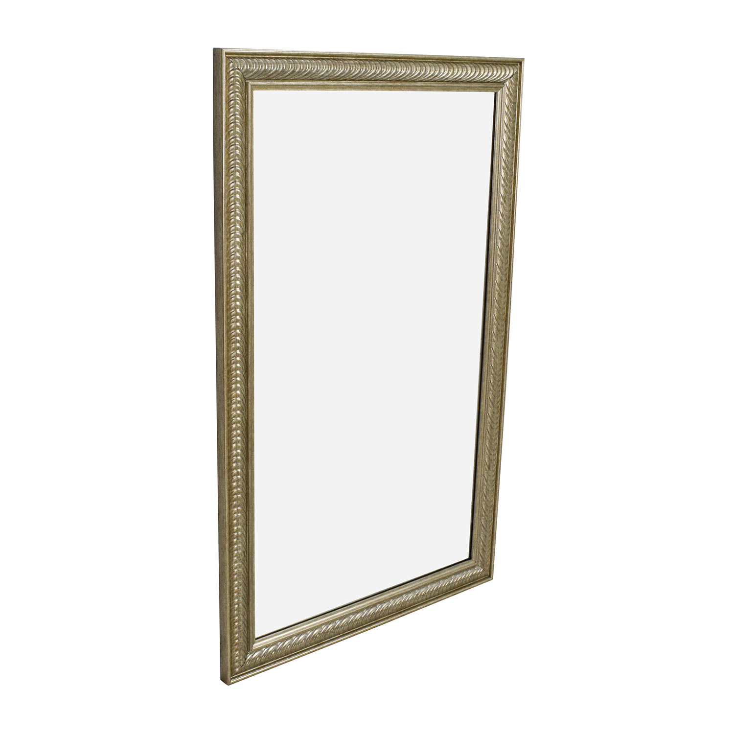 Wall Mirror Decor 44 Off Wave Collection Wave Collection Silver Framed