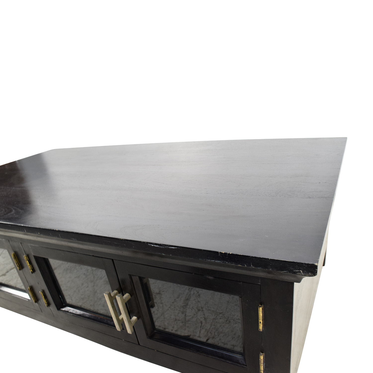 Black End Table With Storage 64 Off Black Wooden Storage Coffee Table Tables