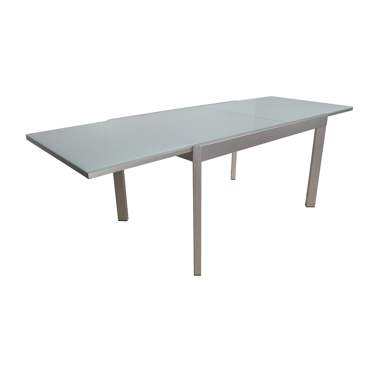 Buy Dining Table 86 Off Calligaris Calligaris Extendable Glass Dining