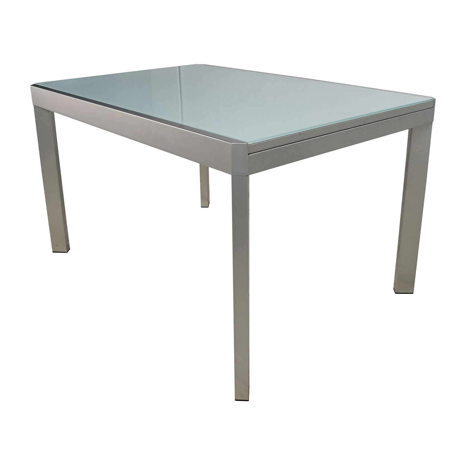 Extendable Breakfast Table 86 Off Calligaris Calligaris Extendable Glass Dining