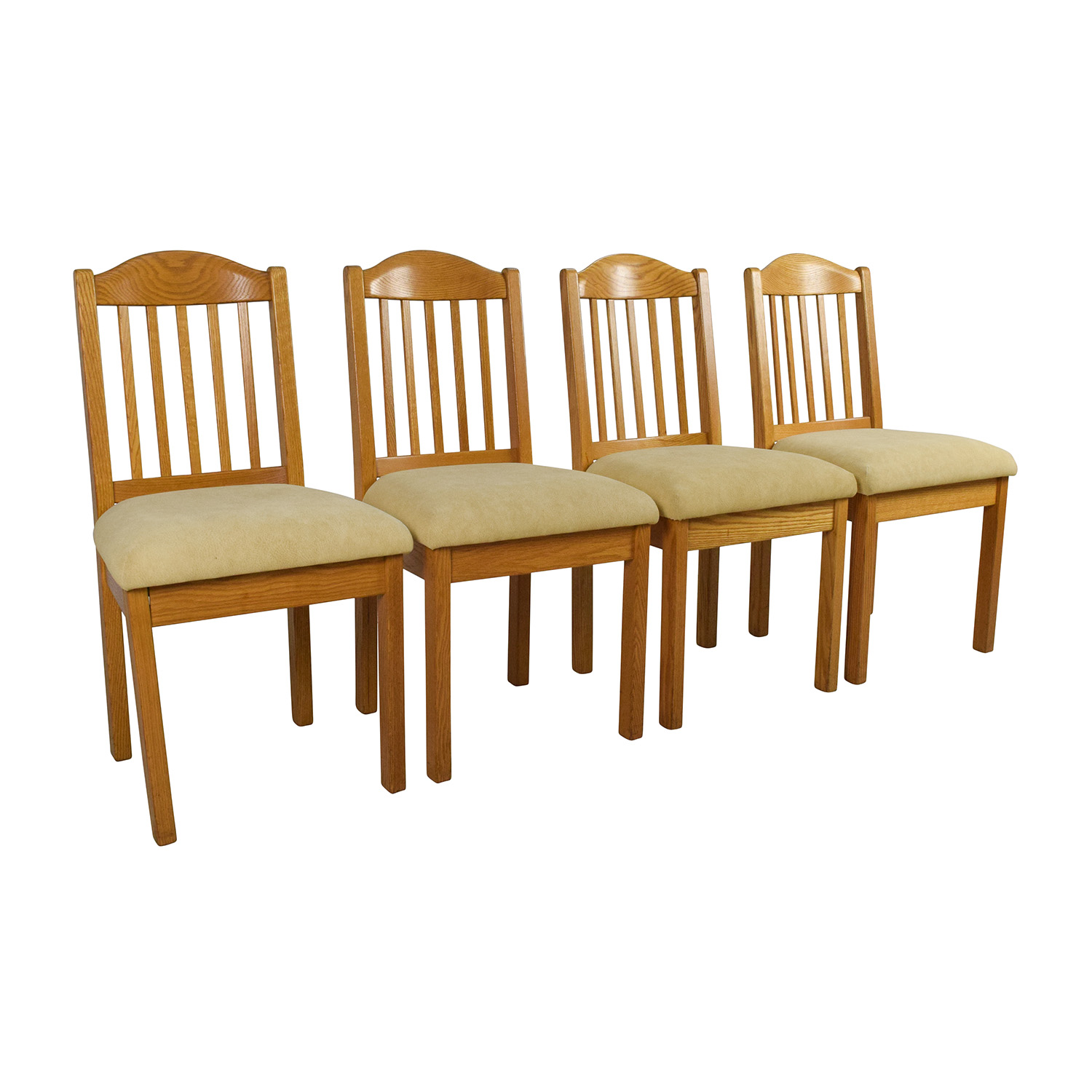 Second Hand Wood Sala Set 82 Off Set Of Wood Dining Chairs Chairs