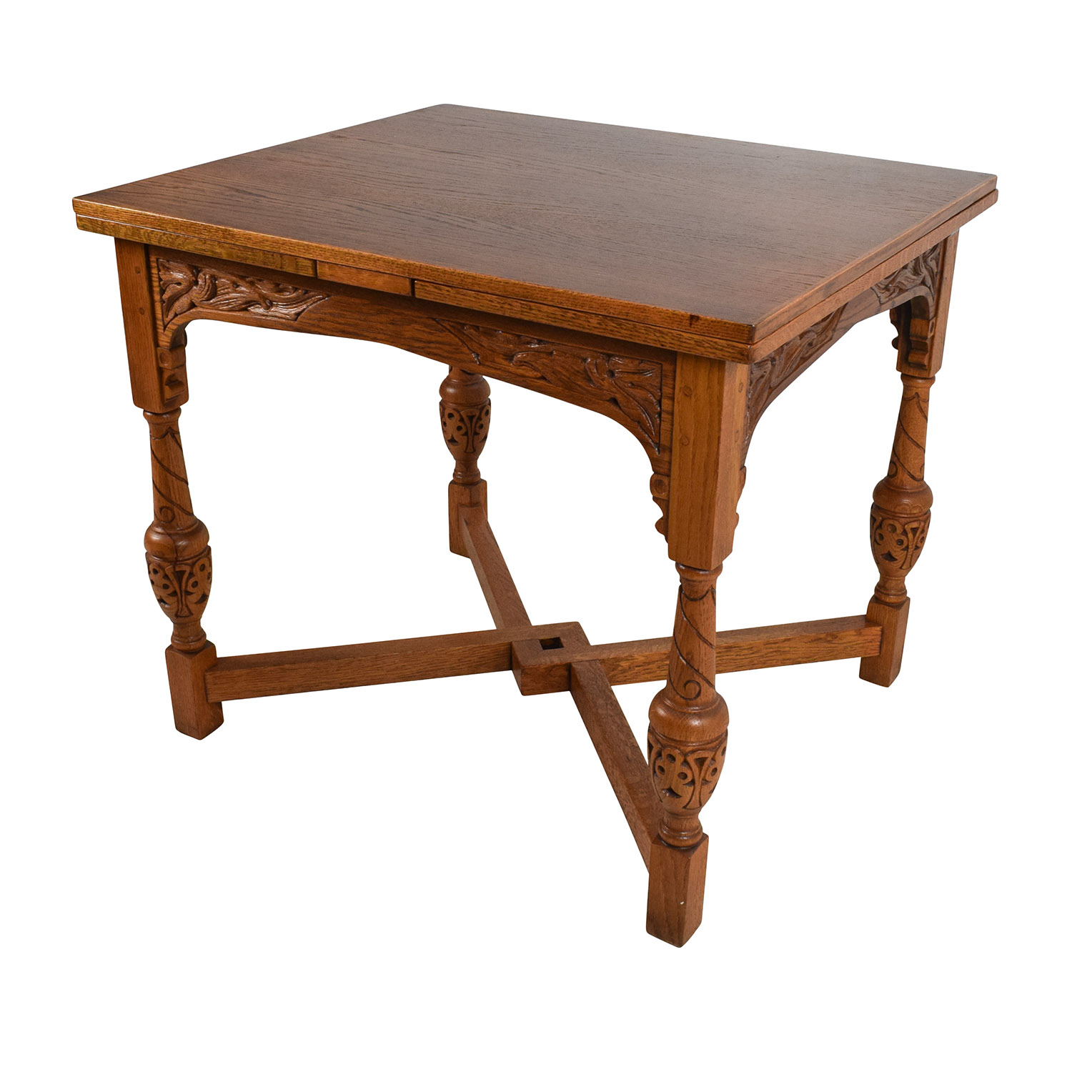 Buy Dining Table 61 Off Antique Oak Extendable Dining Table Tables