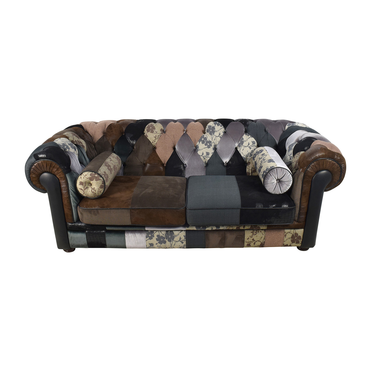 Patchwork Sofa 68 Off France And Son France And Son Egan Tufted