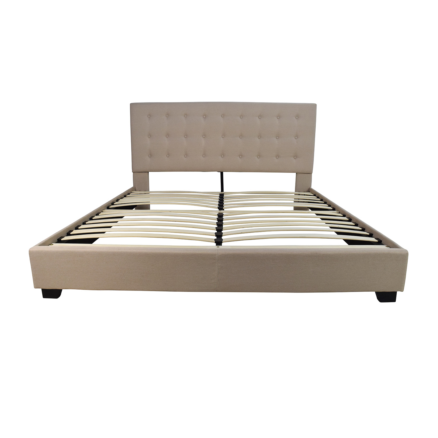 King Size Bed Frame 44 Off King Size Taupe Cloth Bed Frame Beds