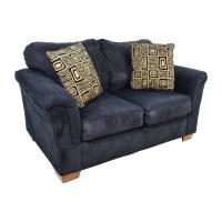 81% OFF - Ashley Furniture Ashley Furniture Black LoveSeat ...