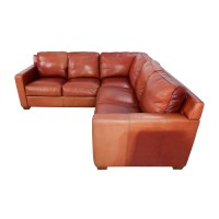 68% OFF - Thomasville Thomasville Red Leather Sectional ...