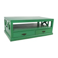 53% OFF - Nadeau Nadeau Handmade Green Coffee Table / Tables